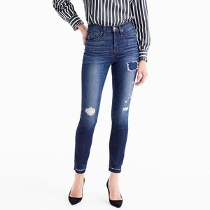 "J.Crew 9"" High-rise Toothpick Jean in Lassiter 28T"
